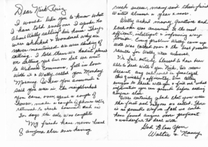 Written Review Walter & Nancy